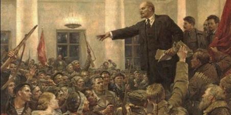 Lenin en el cuartel general de los blocheviques ✆ Ivan Serov © Ñángara Marx