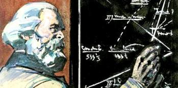Karl Marx Las fórmulas que revelan los secretos de El Capital ✆ Leonid Kozlov Vasilevich, 1970 Archivo Estatal Ruso de Moscú ©