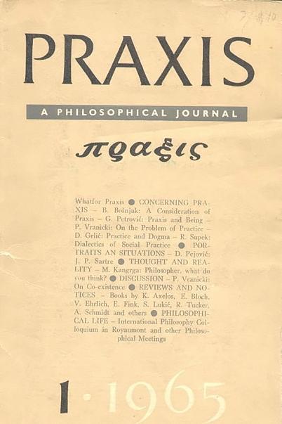 Gajo petrovic praxis study